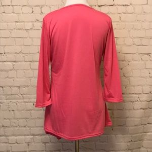 Tops - Button Accent Pink Top